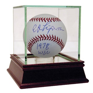 "Ed Figueroa Autographed Baseball w/ ""78 WS Champ"" Inscription"