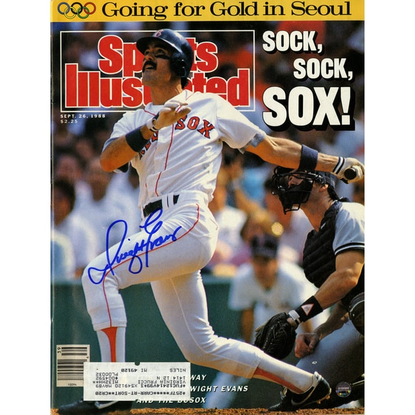 Dwight Evans Signed 9/26/88 Sports Illustrated Magazine