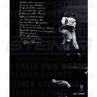 Don Larsen Signed World Series Perfect Game 10-8-56 16x20 Story Photo