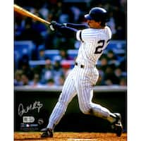 Don Mattingly NYY Home Jersey Swinging Vertical 8x10 Photo (MLB Auth)