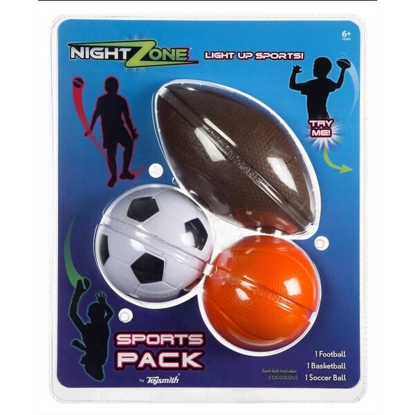 Toysmith Nightzone Sports Ball Pack