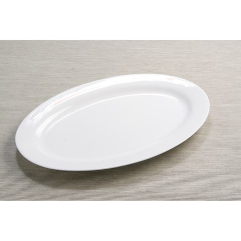 Pure Vanilla Oval Serving Platter 16""
