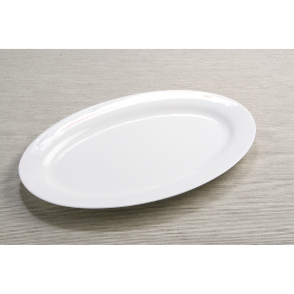 """Red Vanilla Oval Serving Platter 16"""". Opens flyout."""