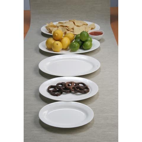 "Pure Vanilla Oval Serving Plates 12"" (Set of 4)"