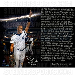 Darryl Strawberry Signed Yankees Uniform 16x20 Story Photo