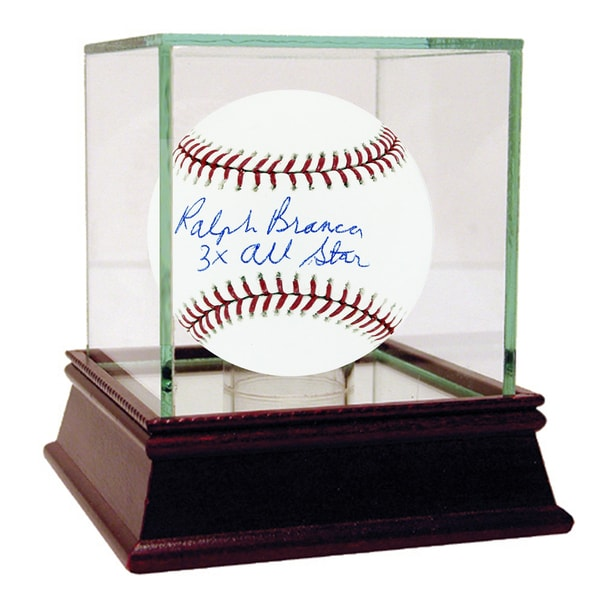 "Ralph Branca Signed MLB Baseball w/ ""3x All Star"" insc"