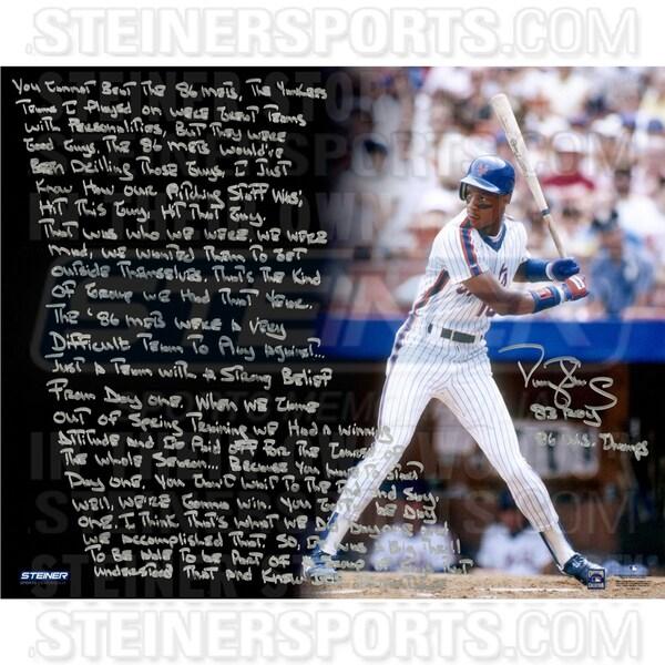 Darryl Strawberry Signed Mets Uniform 16x20 Story Photo