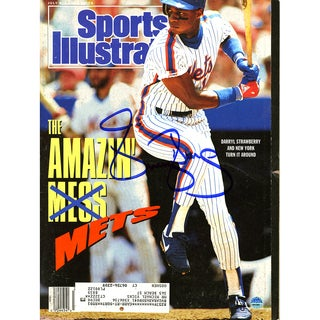Darryl Strawberry Signed 7/9/90 Sports Illustrated Magazine