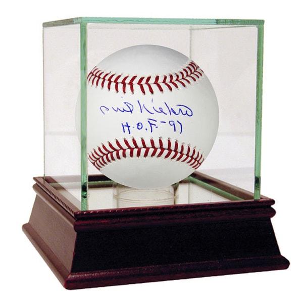 """Phil Niekro Signed MLB Baseball w/ """"HOF 97"""" Insc"""