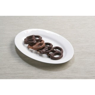 Pure Vanilla 8-inch Oval Plates (Set of 4)