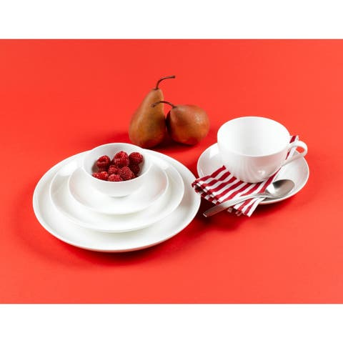 "Red Vanilla Coupe Side Plates 7"" (Set of 6)"