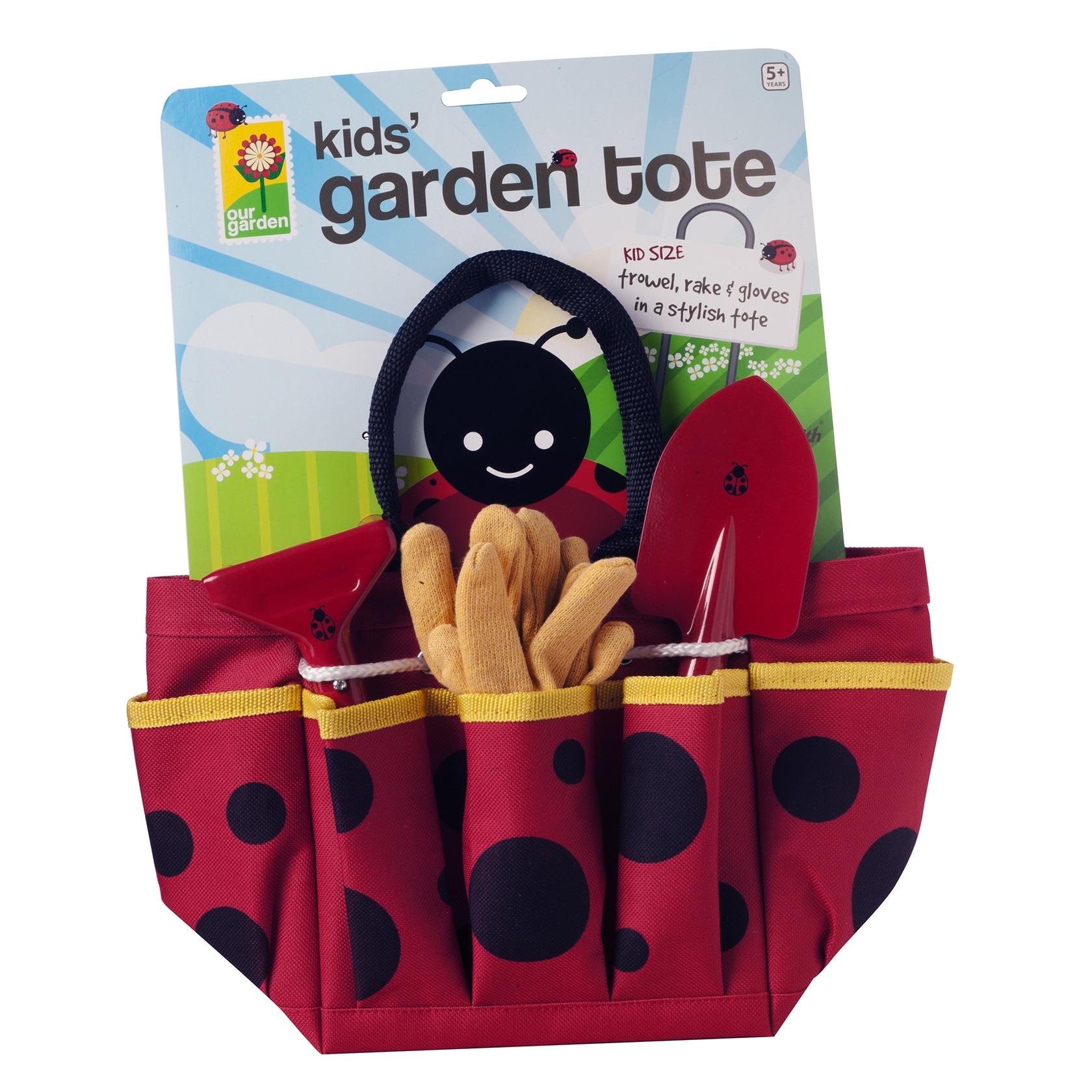 Toysmith Ladybug Garden Tote (G085761191952), Multi