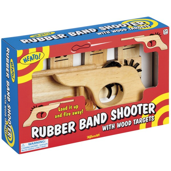 Toysmith Rubber Band Shooot and Wooden Target