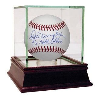 Dale Murphy Signed MLB Baseball w/ 5x Gold Glove Insc (MLB Auth)