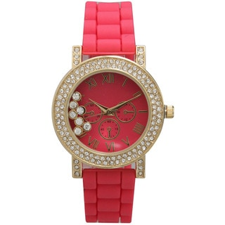 Link to Olivia Pratt Women's Silicone Care Free Rhinestone Watch Similar Items in Women's Watches