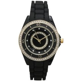 Olivia Pratt Women's Silicone Layered Rhinestone Watch