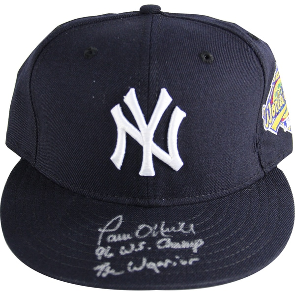 "Paul O'Neill Signed New York Yankees Authentic Hat w/ 1996 WS Patch and ""96 WS Champs, The Warrior"" Insc Size: 7 1/4"