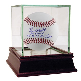 Paul O'Neill Signed MLB Baseball w/ The Warrior, 96 98 99 00 WS Champs Insc