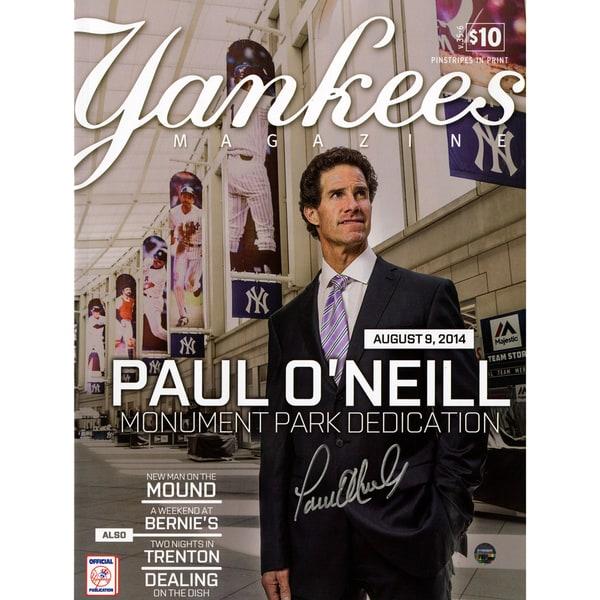 Paul O'Neill Signed 8/9/2014 Yankees Magazine