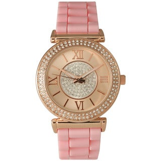 Olivia Pratt Women's Silicone Center Sparkle Watch (3 options available)