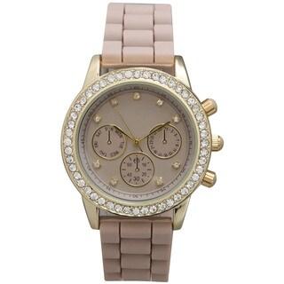 Olivia Pratt Women's Silicone Bejeweled Elegance Watch