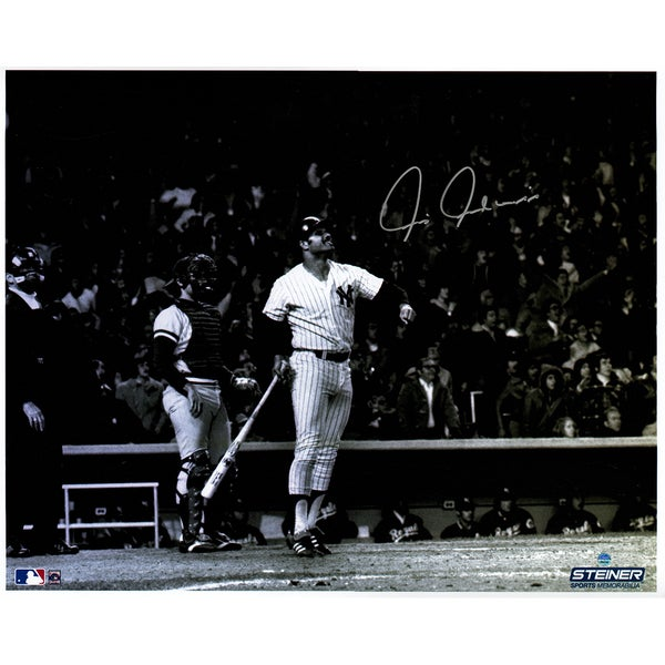 Chris Chambliss Signed ALCS Game Winning HR B/W Horizontal 16X20 Photo with White Border