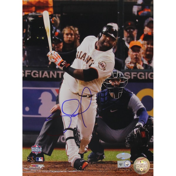Pablo Sandoval Signed 8x10 World Series Photo Straight Ahead