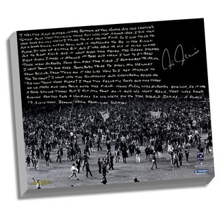 Chris Chambliss Facsimile 76 ALCS Walk-Off HR Stretched 16x20 Story Canvas
