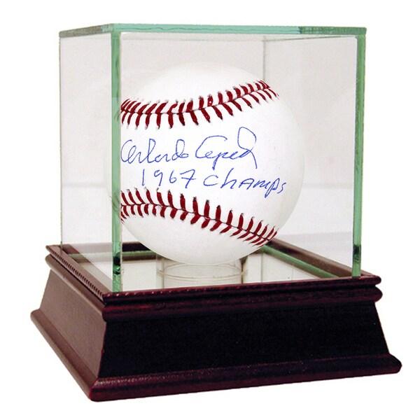 "Orlando Cepeda MLB Baseball w/"" 67 Champs"" Insc (MLB Auth)"