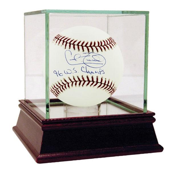 "Cecil Fielder MLB Baseball w/ 96 WS Champs"" Insc"