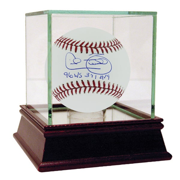 "Cecil Fielder MLB Baseball w/ 96 WS 391 Avg."" Insc"