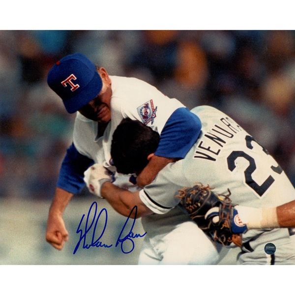Nolan Ryan Ventura Fight Horizontal 8x10 Signed Photo