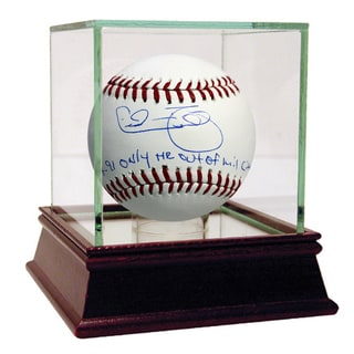 "Cecil Fielder MLB Baseball w/ ""9-14-91, Only HR Out of Mil Cty"" Insc"