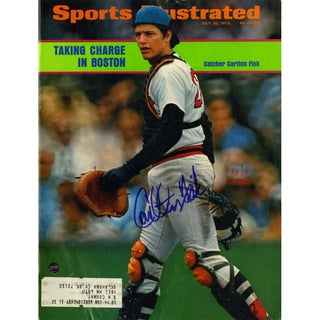 Carlton Fisk Signed 7/30/73 Sports Illustrated Magazine