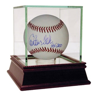 Carlton Fisk Hall Of Fame Inscription MLB Baseball
