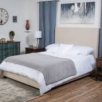Christopher Knight Home Ellington Upholstered Fabric King Bed Set