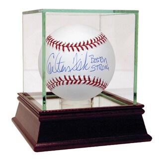 "Carlton Fisk Signed MLB Baseball w/ ""Boston Strong"" Insc."
