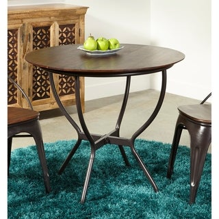Somette Sheesham Wood and Iron Round Dining Table - Brown