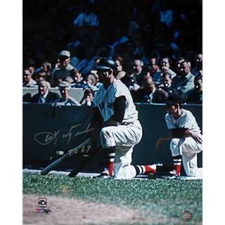 "Carl Yastrzemski Kneeling Vertical 16x20 Photo w/ ""TC 67"" Signed by Photographer Ken Regan"