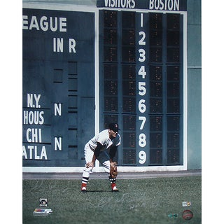 "Carl Yastrzemski Fielding Vertical 16x20 Photo w/ ""HOF 89"" Insc Signed by Photographer Ken Regan"