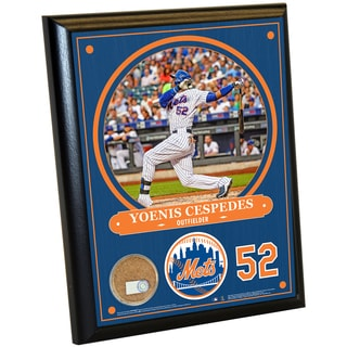 New York Mets Yoenis Cespedes 8x10 Plaque with Game Used Dirt from Citi Field