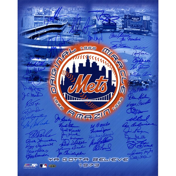 "New York Mets Tribute Multi-Signed 16x20 Photo (50 Signatures) (Ryan/Seaver ""The Franchise""/Glavine/Straw/Gooden/Cone)"