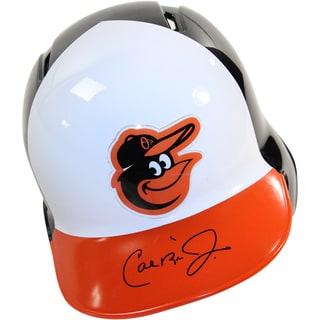 Cal Ripken Jr. Signed Baltimore Orioles Black Batting Helmet Left Ear Flap (MLB Auth)