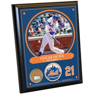 New York Mets Lucas Duda 8x10 Plaque with Game Used Dirt from Citi Field