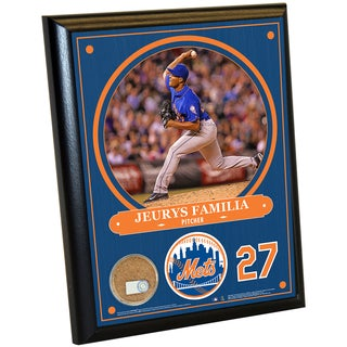 New York Mets Jeurys Familia 8x10 Plaque with Game Used Dirt from Citi Field