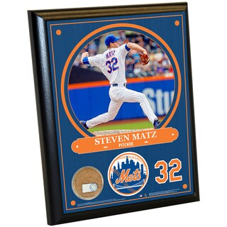 New York Mets Steven Matz 8x10 Plaque with Game Used Dirt from Citi Field