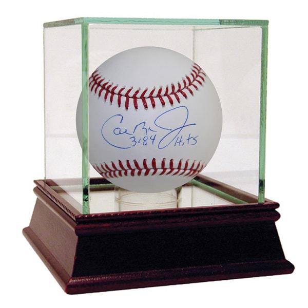 """Cal Ripken Jr Signed MLB Baseball w/ """"3184 Hits"""" Insc (MLB Auth)"""