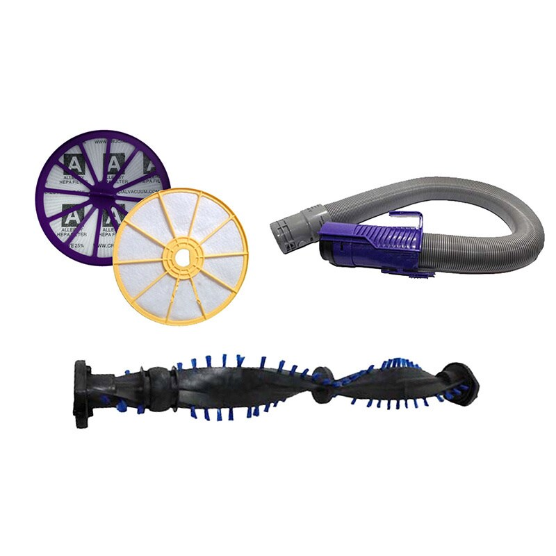 Crucial Dyson DC07 Purple Hose/ Clutch Roller/ Pre and Po...
