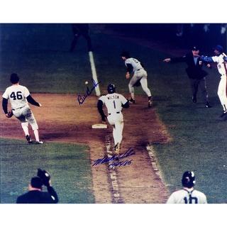 "Mookie Wilson/Bill Buckner Dual Signed w/ ""10/25/86"" Inscrip. 16x20 Photo"