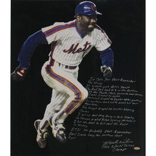 Mookie Wilson Signed WS Game 6 20x24 Story Photo